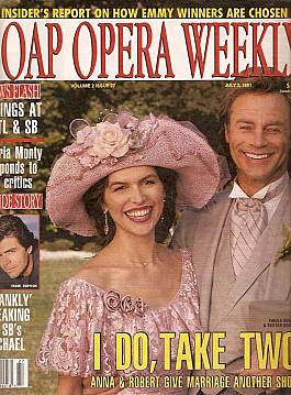 7 2 91 Soap Opera Weekly Finola Hughes Tristan Rogers Soap Opera World