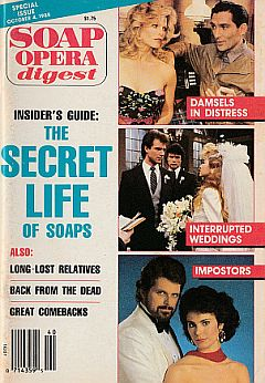10-4-88 Soap Opera Digest  NEIL MAFFIN-ROSEMARY PRINZ