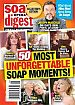 2-1-16 Soap Opera Digest  50 UNFORGETTABLE SOAP MOMENTS