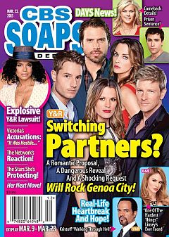 3-23-15 CBS Soaps In Depth  JUSTIN HARTLEY-JACOB YOUNG