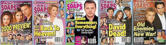 Back Issues of ABC Soaps In Depth from 1997 thru 2020