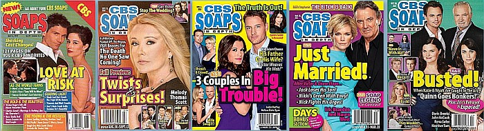 Back issues of CBS Soaps In Depth from 1997 thru 2019
