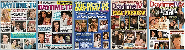 Back Issues of Daytime TV soap opera magazine from 1970 thru 1999