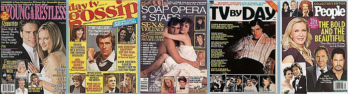 Miscellaneous soap opera magazines from the 70s to the Present