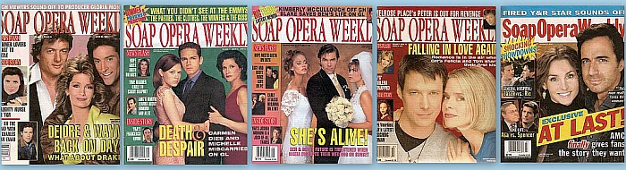 Back Issues of Soap Opera Weekly from 1989 thru 2012