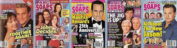 Back Issues of ABC Soaps In Depth from 1997 thru 2019