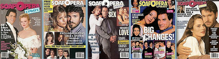 Back issues of Soap Opera Update from 1988 thru 2002