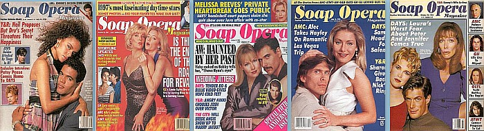 Back issues of Soap Opera Weekly from 1991 thru 1999