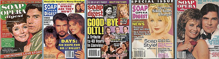Back Issues of Soap Opera Digest from the 1970's to the present!